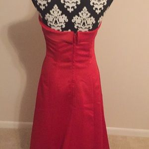 Jordan Dresses - Red Strapless bridesmaid gown